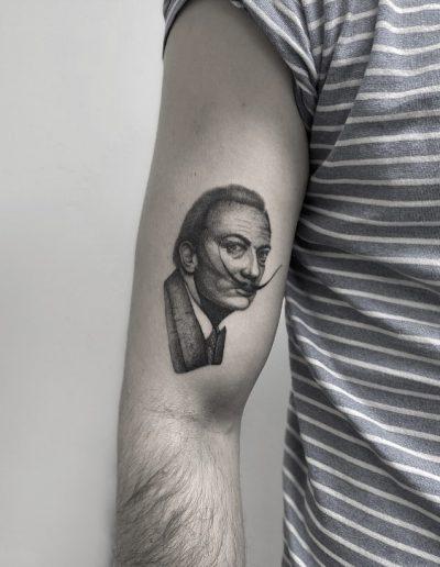 gergo augusztiny hungary budapest salvador dali tattoo