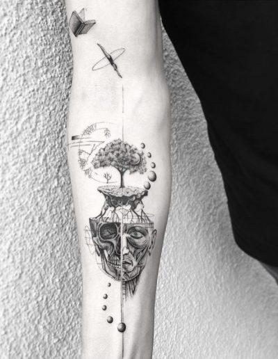 gergo augusztiny hungary budapest geometric fineline spiritual tattoo